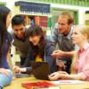 Gruppe beim Lernen