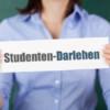 Schild mit Studentendarlehen