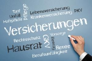 Darstellung verschiedener Versicherungen